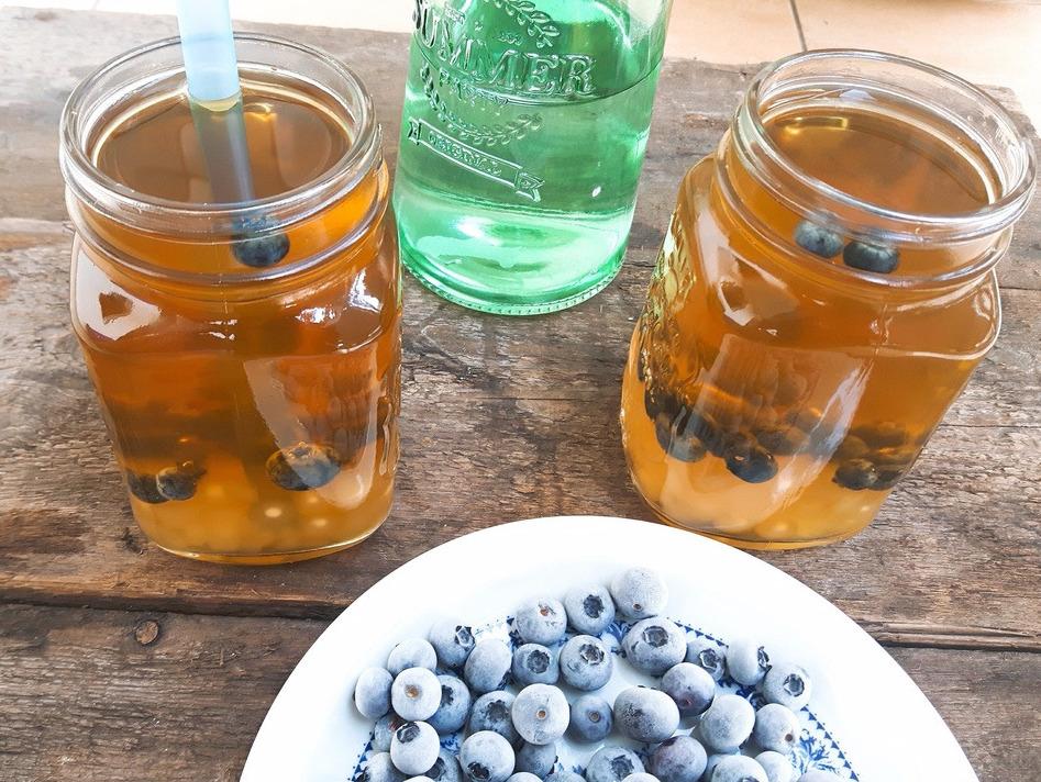 Bubble tea z borówkami