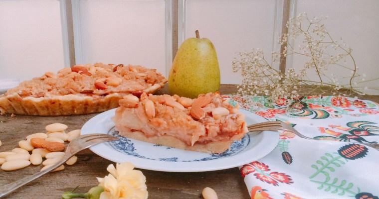 Tarta z gruszek i truskawek jak szarlotka