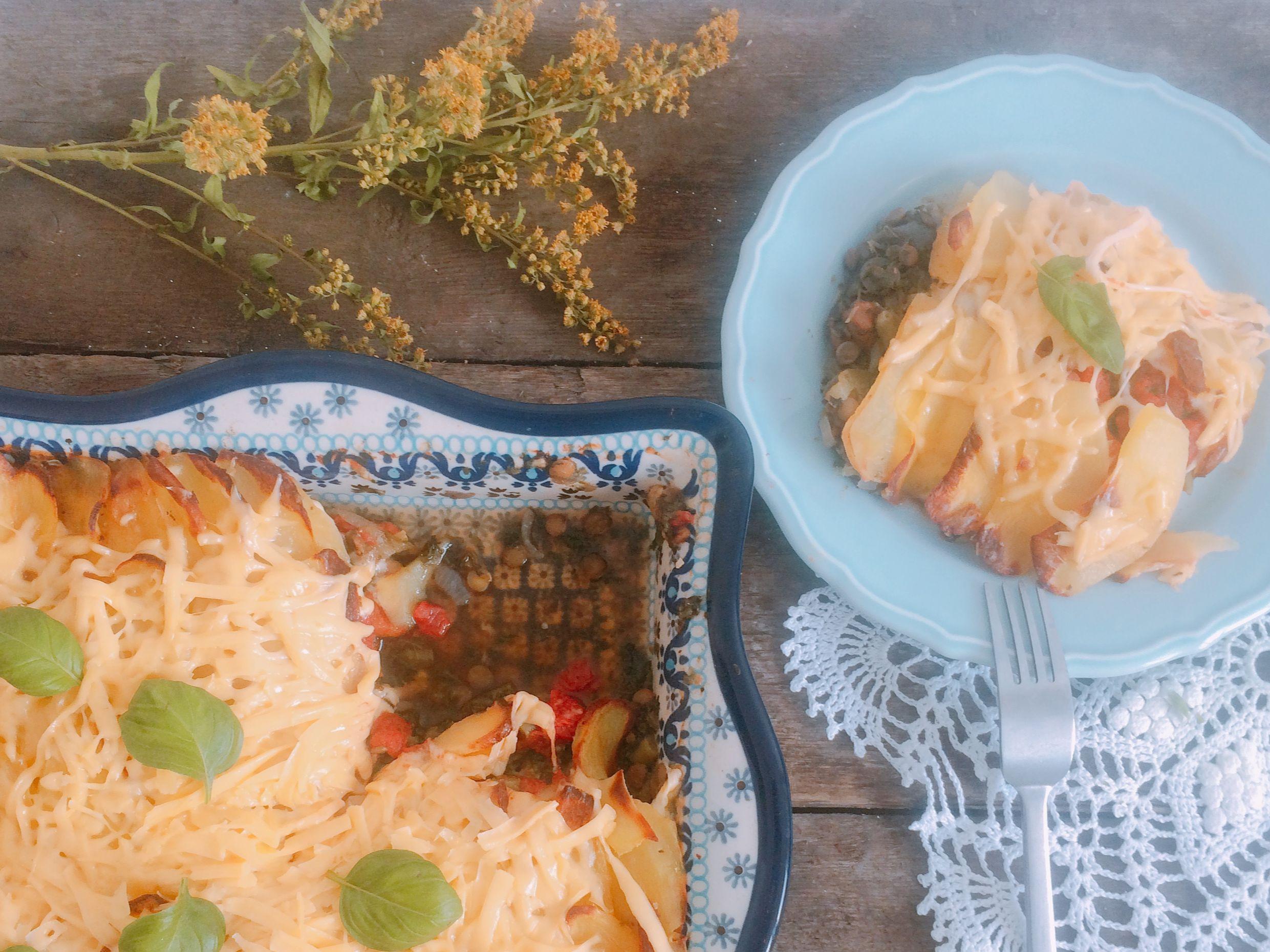 Zapiekanka warzywna z ziemniakami i serem