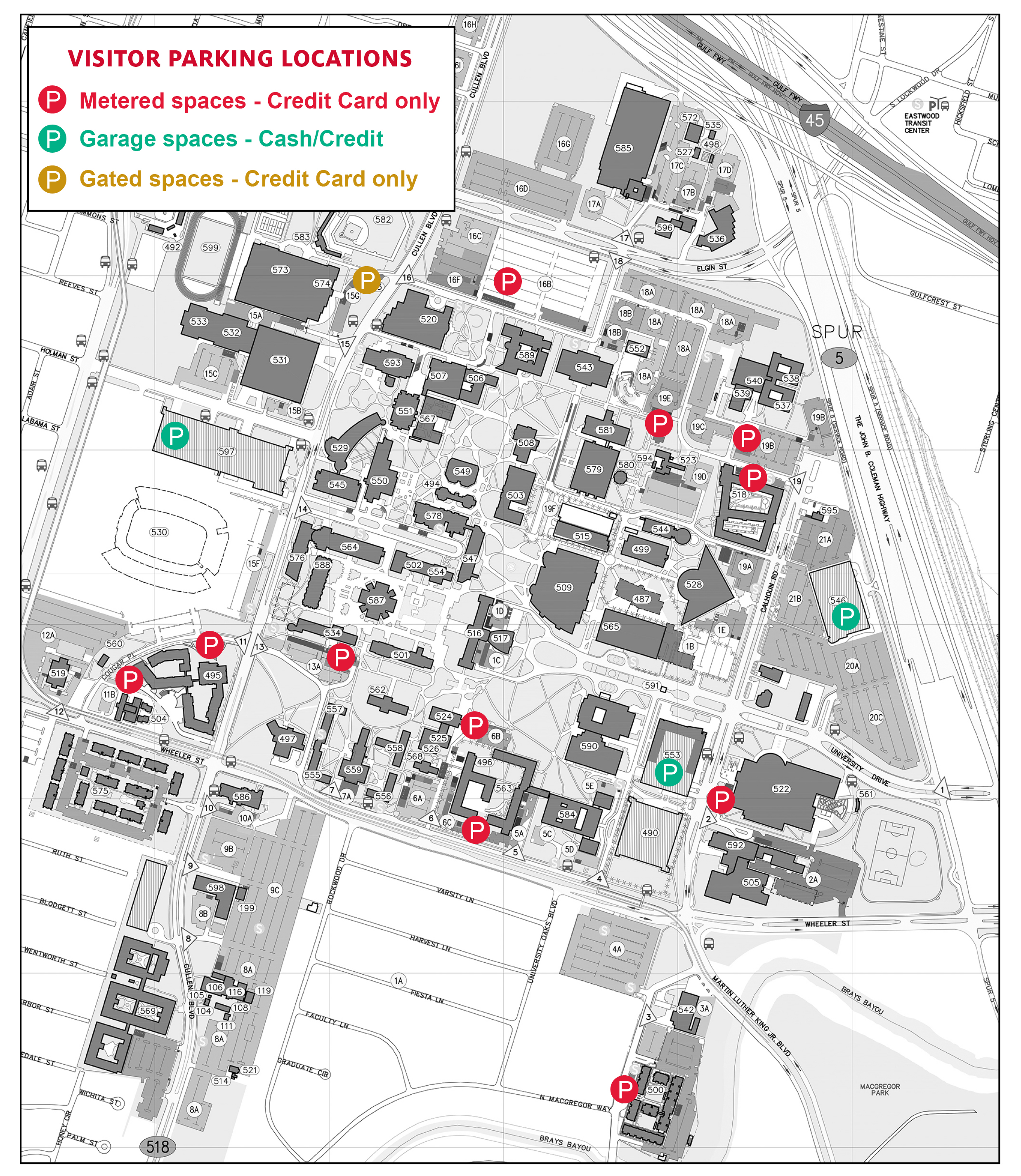 Campus Map Uh