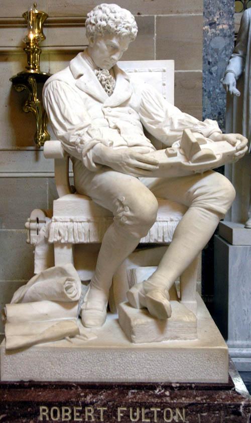 Robert Fultons statute in the U.S. Capitol - photo by Robert Lienhard