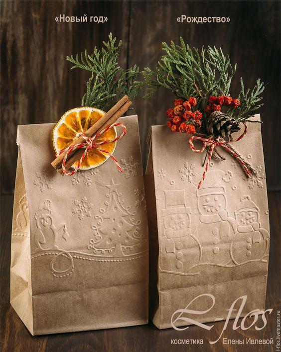 подарочная упаковка новогодняя и рождественская