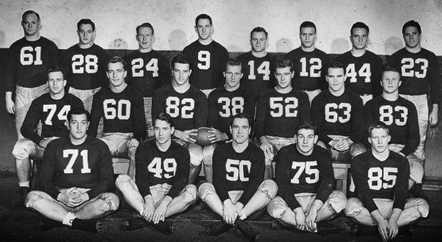 Notre Dame's 1949 National Championship Team
