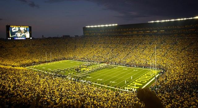 Maize University Michigan Football Wallpaper