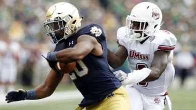 CJ Prosise - Notre Dame RB v. UMass