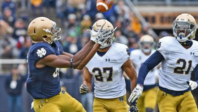 Notre Dame WR Miles Boykin in action in the 2018 Blue Gold Game