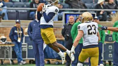Notre Dame Safety Jalen Elliott