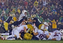 Notre Dame's epic goalline stand against Stanford in 2012.