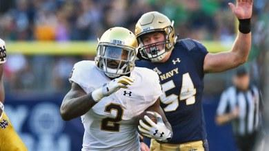 Notre Dame RB Dexter Williams in action vs. Navy
