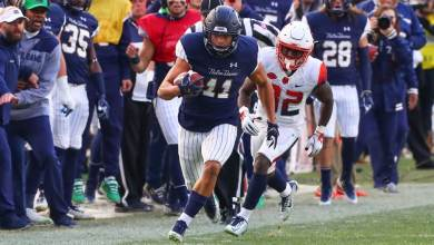 Alohi Gilman on his 2nd INT of the game against Syracuse Alohi Gilman on his 2nd INT of the game against Syracuse