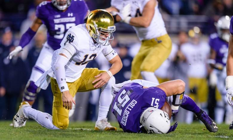 Notre Dame QB Ian Book will miss this weekend's contest vs, Florida State