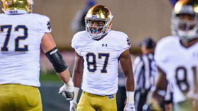 Notre Dame WR Michael Young vs. Northwestern