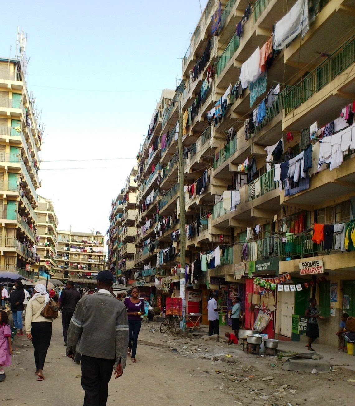 A street view in Nairobi's Pipeline Estate