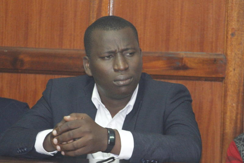 Blogger Cyprian Nyakundi during a past court session.