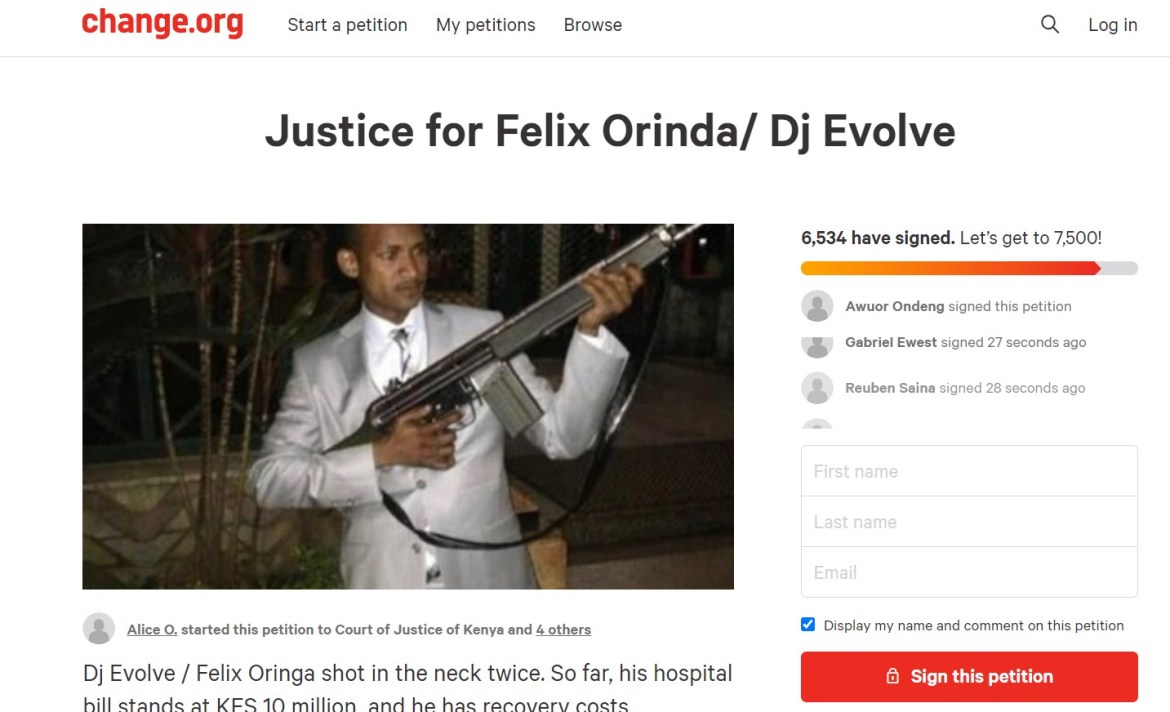 Netizens launch petition to have Babu Owino held accountable for his action that almost took away DJ Evolve's life