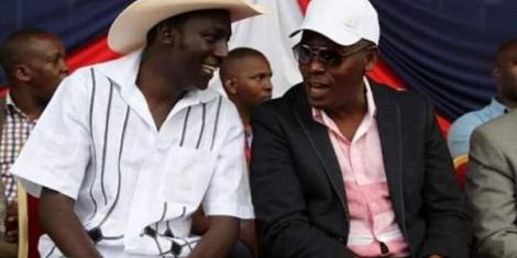 Late Kikuyu Benga Musician John DMathew and former Kiambu Governor William Kabogo