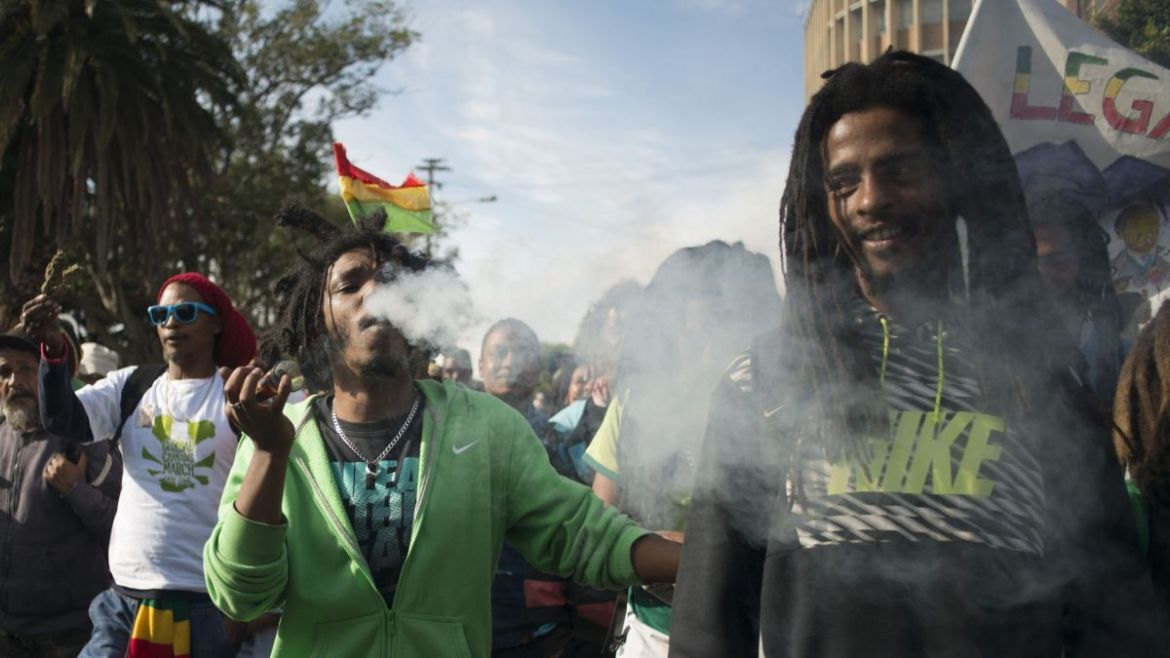 Thousands marched in 2016, calling for the South African government to legalize marijuana [Photo courtesy of CNN]