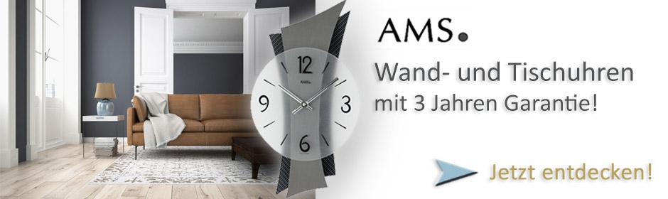 AMS-Wohnraumuhren Banner