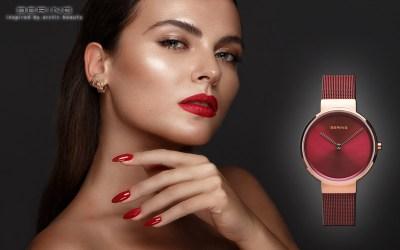 Bering 14531-363 Damenuhr im klassischen Rot