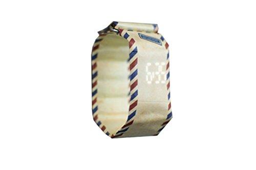 Armbanduhr Paprcuts Watch aus Tyvek® reissfest wasserfest unisex verschiedene Motive zur Auswahl (airmail)