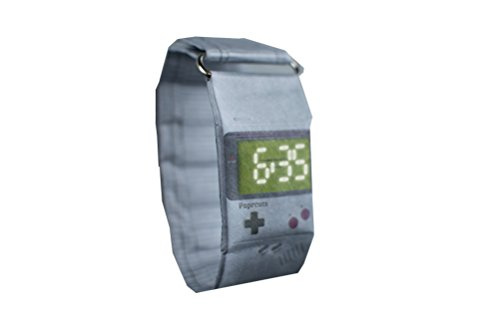 Armbanduhr Paprcuts Watch aus Tyvek® reissfest wasserfest unisex verschiedene Motive zur Auswahl (gameboy)