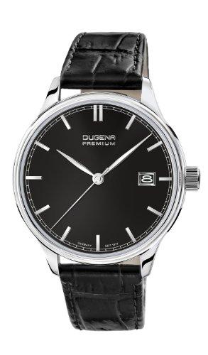 Dugena Herren-Armbanduhr Sigma - Traditional Classic Analog Quarz Leder 7000251