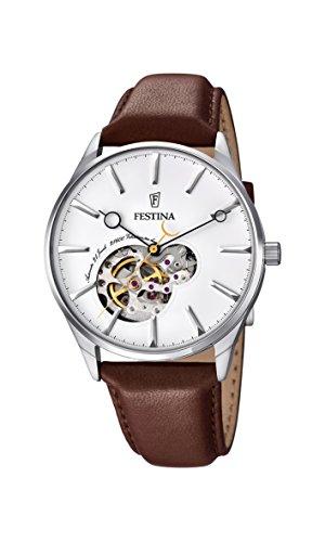Festina Herren-Armbanduhr Analog Automatik Leder F6846/1