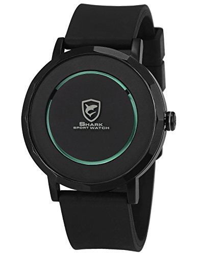 Shark Herren Armbanduhr Neuartig Minimalismus Design Gummi Band Analog Uhr SH511