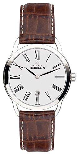 Michel Herbelin Equinoxe Damenuhr braun/silber/weiß 16977/01GO