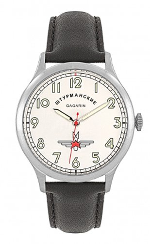 Sturmanskie Juri Gagarin STW1306G5 Herren-Armbanduhr, schwarz