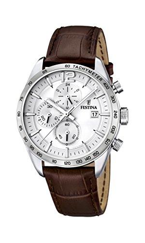 Festina Herren-Armbanduhr Analog Quarz Leder F16760-1