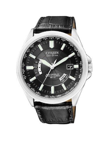 Citizen Herren-Armbanduhr XL Analog Quarz Leder CB0010-02E