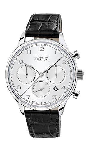 Dugena Herren-Armbanduhr SIGMA CHRONO Chronograph Quarz Leder 7000202