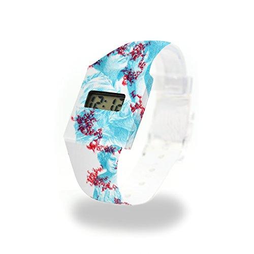 SPECTRE Pappwatch / Paperwatch / Digitale Armbanduhr aus Tyvek®, absolut reißfest und wasserabweisend
