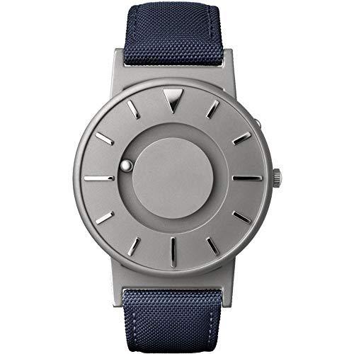 eone BRADLEY CLASSIC Unisex Uhr - Leder/ Stoff Armband aqua