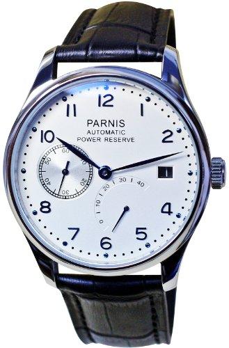 PARNIS Automatikuhr Modell 2016 mechanische Herren Armbanduhr Edelstahl Lederarmband SeaGull Uhrwerk
