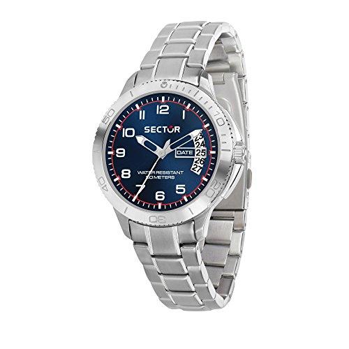 SECTOR NO LIMITS Herren Analog Quarz Uhr mit Edelstahl Armband R3253578007
