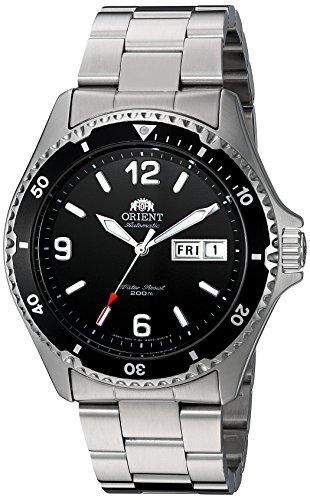 Orient Mako II AA02001B Armbanduhr mit schwarzem Zifferblatt, automatisch, mit Edelstahl-Armband
