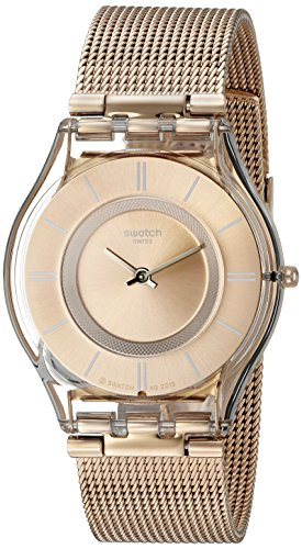 Swatch Unisex-Uhr Digital Quarz mit Edelstahlarmband – SFP115M