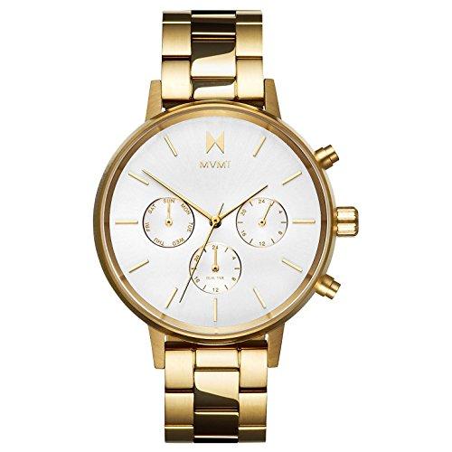 MVMT Damen Chronograph Quarz Uhr mit Edelstahl Armband D-FC01-G