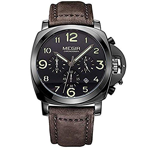 Megir Chronograph Hodinky Herrenuhren Top-Marke Luxury Sports Männlichen Uhren