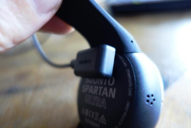 Suunto Spartan Ultra with USB cable attached