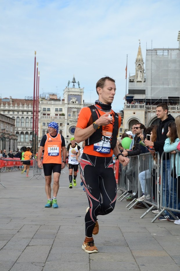 Finally at St. Mark's Square during the Venice Marathon - and filming ;)