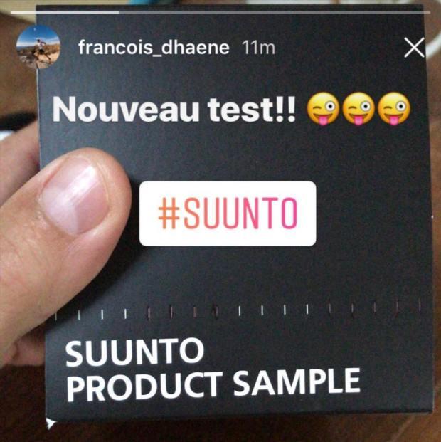 "Francois D'Haene zeigt ""Suunto Product Sample"" auf Instagram"