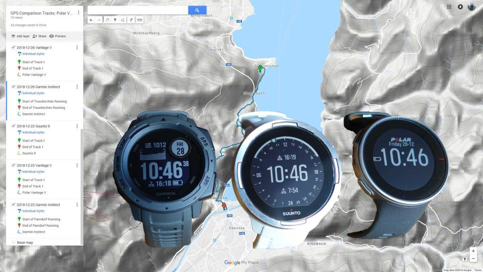 Gps And Altitude Polar Vantage V Vs Suunto 9 Baro Vs Garmin