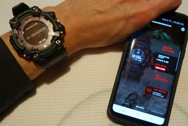 Casio Rangeman linked to Casio Connected App