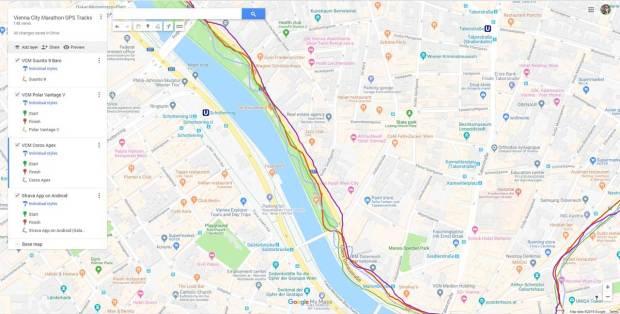 Verwackeltes GPS am Donaukanal