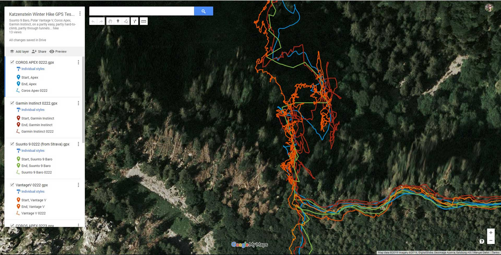 Sports Watch Performance: Winter Hiking in the Mountains - Time and