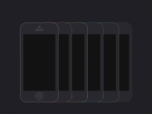 Flat iPhone Wireframe Design Template  PSD    free psd   UI Download Flat iPhone 5C Mockup Template  thumb