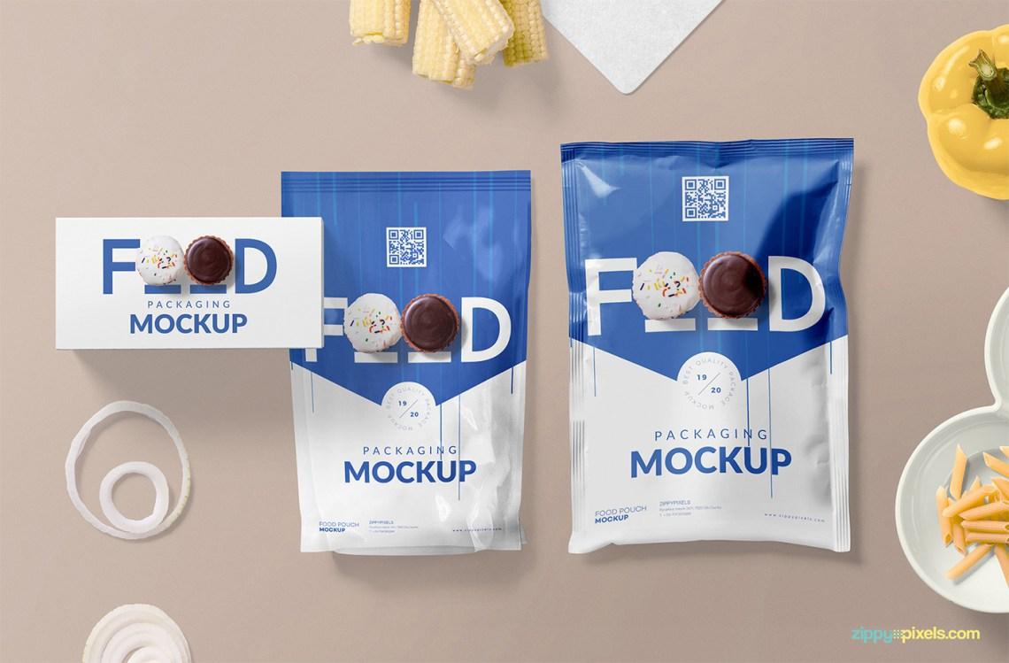 Download Free Food Packaging Mockup PSD   free psd   UI Download